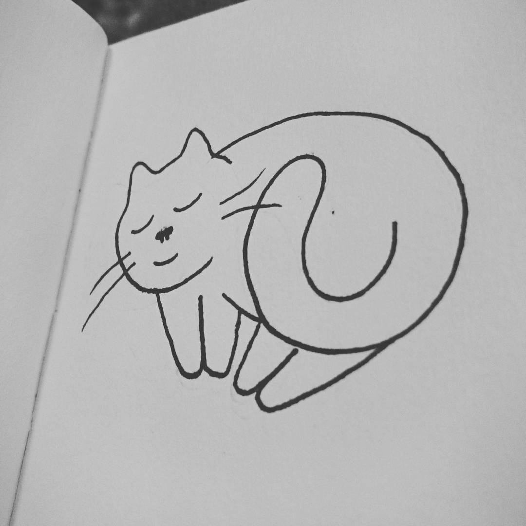 Kawaii Nappy cat Inktober 2016