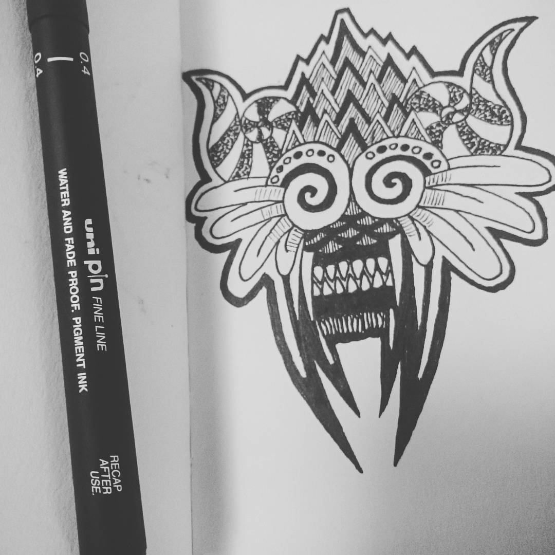 Demon mask Inktober 2016