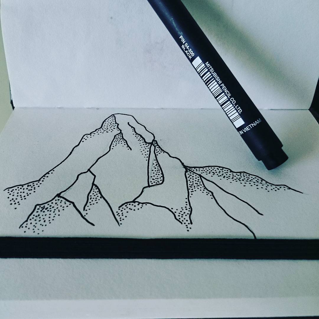 Mighty Matterhorn Inktober 2016