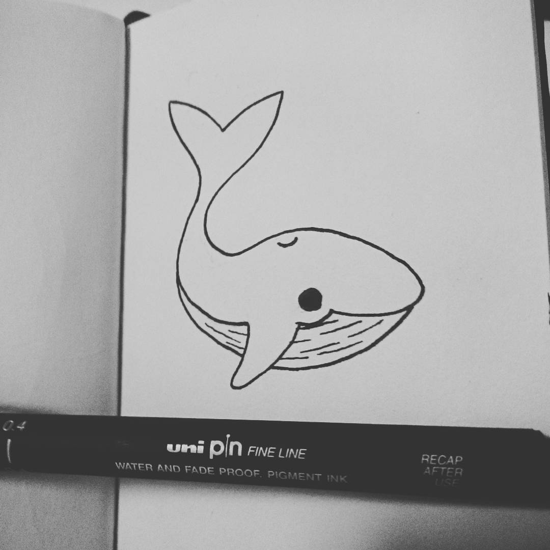 Baby Whale Inktober 2016