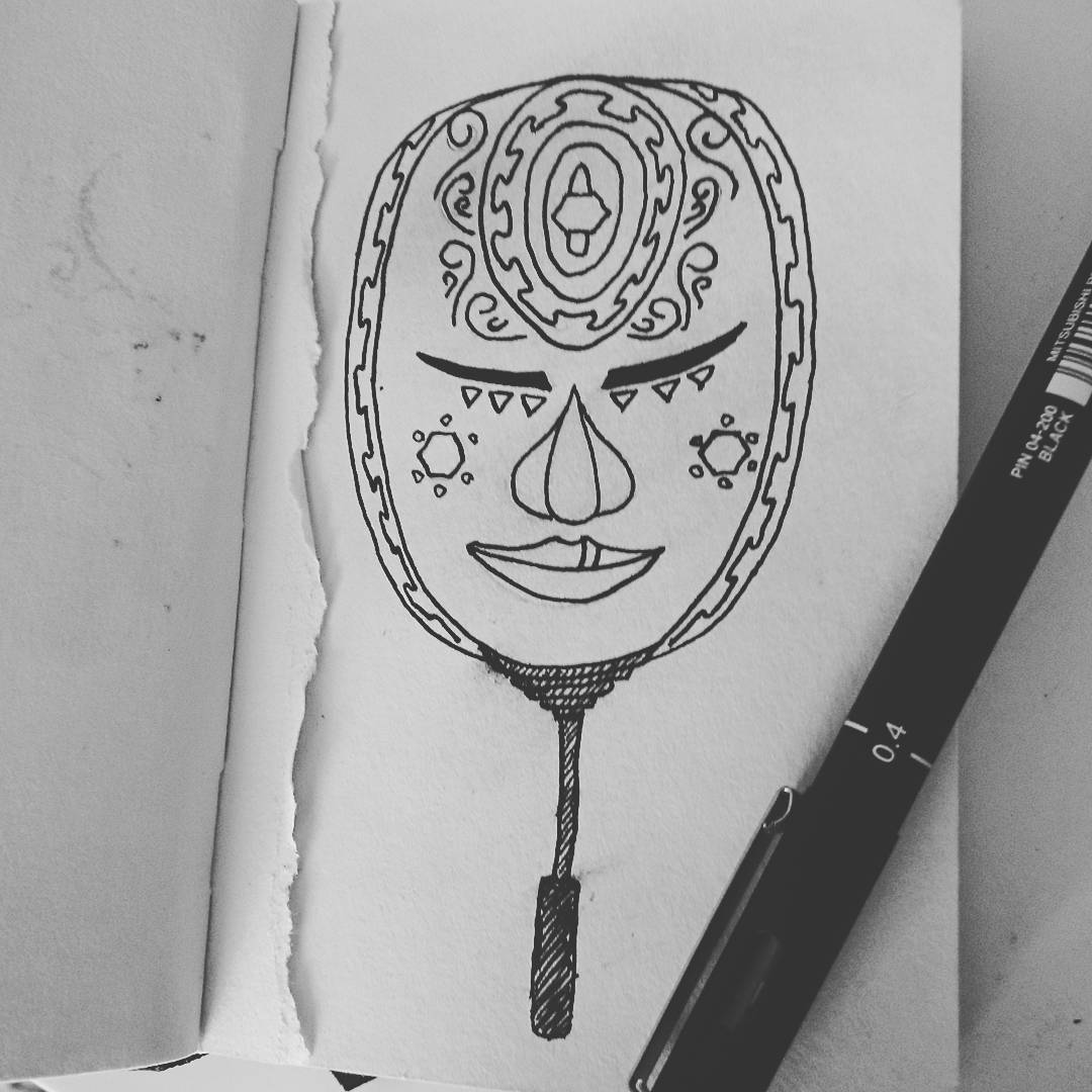 Mask of the third eye Inktober 2016