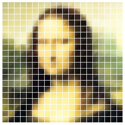 WKMF Pixel Art Series: Mona Lisa