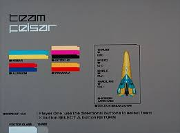 Wipeout 3 vehicle selection screen