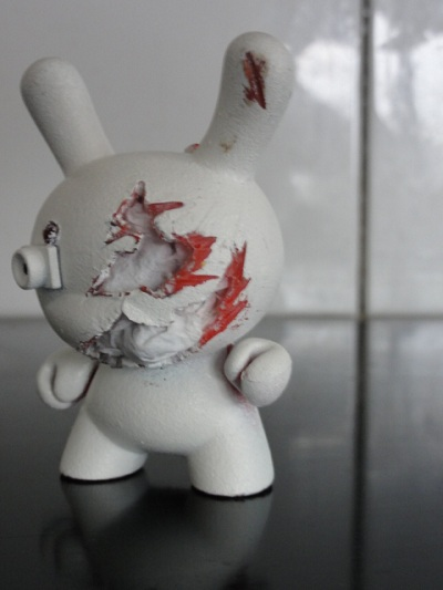Dunny custom Wrecker Battlescar  Work In Progress Erik bij de Vaate